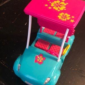 Barbie golf cart